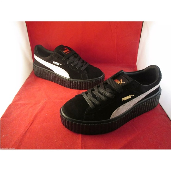 new concept 95cf3 9c2af Rihanna Puma Creepers Black and White